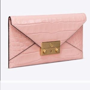 Tory Burch Juliette Embossed Envelope Wallet